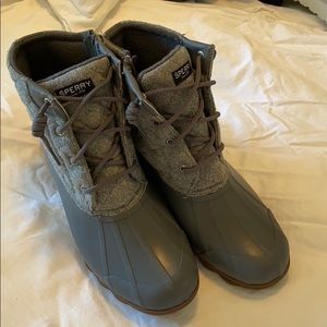 Sperry topside rain boots duck size 9.5 grey